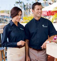 Trade show staff uniforms or clothing